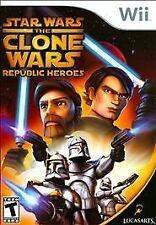 STAR WARS THE CLONE WARS REPUBLIC HEROES Nintendo Wii Game