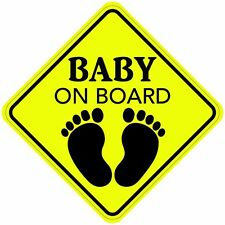 "2 signs BABY ON BOARD 5""x5"" Sticker / Decal Made In the USA"
