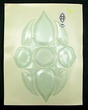 "Stained Glass Glue Art Kit - Clear 13 Piece Round Oval - 8"" by 13 1/2"" - # 1040"