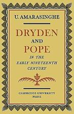 Dryden and Pope in the Early Nineteenth-Century: A Study of Changing Literary Ta