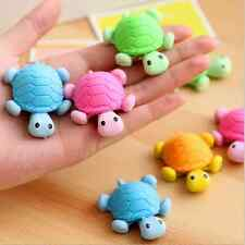 1pc Cute Kids Children Students Eraser Cartoon Turtle Shape Mini Rubber Eraser