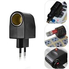 EU Plug Black 220V AC to 12V DC Car Cigarette Lighter Socket Charger Adapter Hot