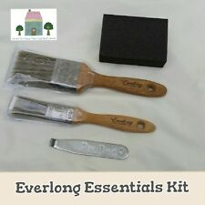 EVERLONG CHALK PAINT SHABBY CHIC FURNITURE PAINT BRUSH ESSENTIALS KIT