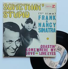 "Vinyle 45T Frank & Nancy Sinatra  ""Somethin' stupid"""