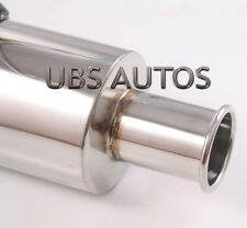 Stainless Steel Exhaust Back Box fits Honda Civic 92+ EG EG6 VTI Hatchback SSN1