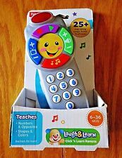 Fisher-Price Laugh & Learn Click 'n Learn Remote, Toy for Baby, Todder, New