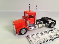 HO 1/87 Promotex/Herpa # 15255 Single Axle Freightliner Day Tractor Truck Orange