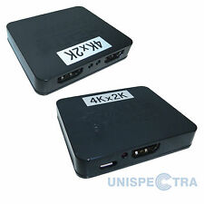 2 Output 1 Input Mini HDMI Splitter Amplifier - Support 1x2 HDTV 1080P 3D and 4K