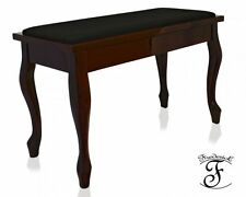 Frederick English Duet Piano Bench Mahogany Satin with French Legs