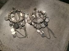 ALL SAINTS SPITALFIELDS LARGE RULA SILVER OX EARRINGS~NWOT~SOLD OUT!!
