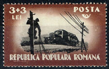 Romania Transportation Industrial Tracks stamp 1948 MNH