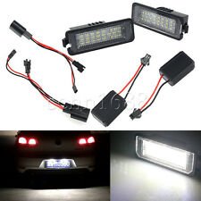 2x 24LED 3528 SMD License Plate Light Error free Fit VW Golf GTI MK5/6 PASSAT B6