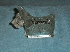 VINTAGE T. H. STOUGH CLEAR GLASS SCOTTIE DOG CANDY HOLDER 1940's