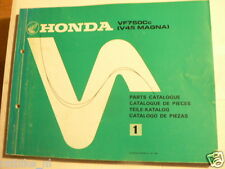HONDA VF750 CC V45 MAGNA PARTS CATALOGUE NO 1 1982 MOTORCYCLE