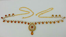 Indian Jaipuri Jewelry Belly Dance Gold Plated Kundan Waist Band Belt Chain