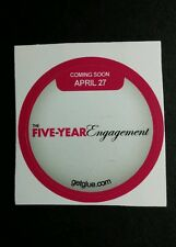 """THE FIVE-YEAR ENGAGEMENT NAME TITLE MOVIE SMALL 1.5"""" GET GLUE GETGLUE STICKER"""