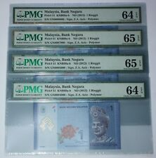 (PL) RM 1 GN 0008000 PMG 64 EPQ 1 PIECE ONLY RADAR FANCY LOW ALMOST SOLID NUMBER