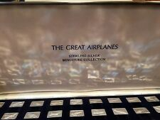 Rare Franklin Mint The Great Airplanes Sterling Silver Ingot Miniature Collectio
