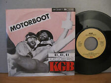 "7"" KGB Kurt Gober Band Motorboot / Ei, Ei, Ei '84 Single Vinyl"