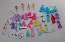 Disney Princess Polly Pocket Style Dolls Accessories Clothes Ariel Belle Aurora