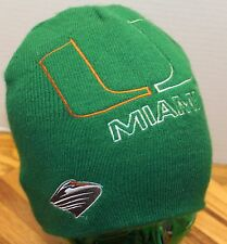 DREW PEARSON UNIVERSITY OF MIAMI HURRICANES WINTER BEANIE HAT EXCELLENT COND