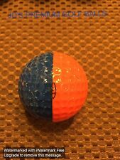 PING GOLF BALL-DARK BLUE/DARK ORANGE PING EYE #4.....NO LOGO.....6.8/10
