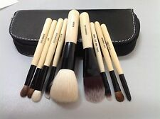 Pro 9Pcs Brush Set Cosmetic Kit Case With Zipper Wool Makeup Set For Bobbi Brown