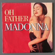 """MADONNA - OH FATHER - RED FRENCH COVER - 7"""" SINGLE RARE 45 RPM FRANCE SIRE"""