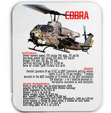AH1 COBRA HELICOPTER - MOUSE MAT/PAD AMAZING DESIGN