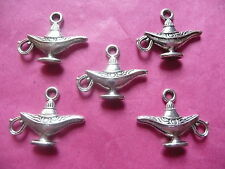 Tibetan silver genie lamp/magic lamp charms 5 per pack