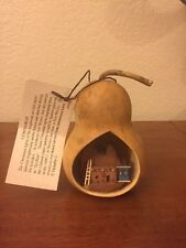 Ophelia Crosier Hand Carved Adobe House From Cottonwood Bark In A Gourd Ornament