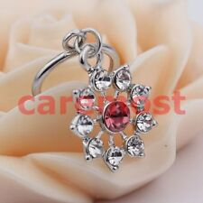 1pc Non Piercing Clip On Dangle with Crystal Flowers Nipple Ring / Shield