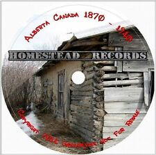 Alberta Canada Homestead Records 1870-1940 CD Genealogy Family Tree History