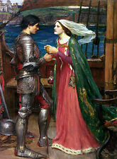 Tristan and Isolde Sharing the Potion Waterhouse Canvas / Fine Art Poster Print