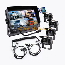 "4AV TRAILER CABLE 9"" MONITOR WITH DVR BACKUP SYSTEM SAFETY REAR VIEW CAMERAS"