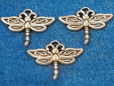 50Pcs. WHOLESALE Tibetan Silver DRAGONFLY Bug Charms Pendant Earring Drops Q0191
