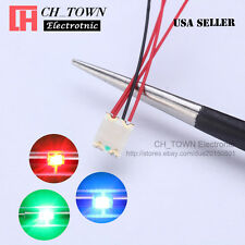 10PCS Pre Wired 1206 3227 SMD RGB Red Green Blue Light Pre-Soldered LED Diodes