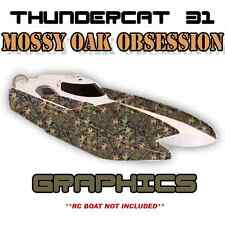 ProBoat ThunderCat 31 - MossyOak - Custom Decal Kit  Premium Boat Graphics