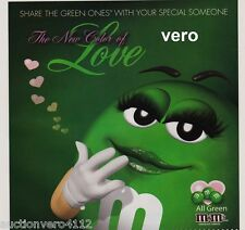 2010 magazine ad M&M The new color of LOVE # 2 mms M&M's green print advert