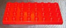 Lego Duplo Bau Grund Platte 8 x 4 rot  f. Bauernhof Eisenbahn aus 5815 5946 9166