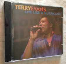 TERRY EVANS CD LIVE LIKE A HURRICANE AQM 1058 2003 BLUES