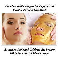 10 Gold Premium collagen Bio Crystal Face Mask Anti Ageing Firming Lifting Mask