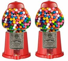 2x Gumball Dispenser Machine Toy With Bubble Gum Kids Party Fun Coin Operated