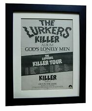 THE LURKERS+God's Lonely Men+POSTER+AD+RARE ORIGINAL 1979+FRAMED+FAST WORLD SHIP