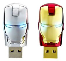 USB FLASH DRIVE 32 GB Avengers Iron man led pen Red And Silver