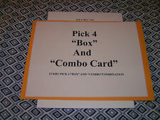 "Lottery System Pick 4 ""BOX""and""Combo"" Card, Every Possible Combination"