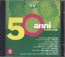 50 Anni di canzoni italiane 9 - ZUCCHERO DE GREGORI RUGGERI MIA MARTINI  CD
