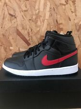 NIKE AIR JORDAN 1 MID BLACK TEAM RED WHITE SIZE 12 NEW WITH BOX BO