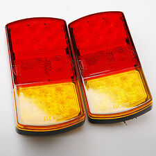 1 pair 12v LED Stop Rear Tail Indicator Reverse Lamp Light Trailer Car Truck Van