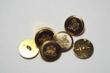 8pc 15mm Gold And Silver Crested Military Metal Blazer Coat Cardigan Button 2858